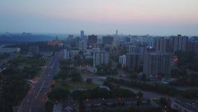 Эдмонтон городской в Альберте, Канаде акции видеоматериалы