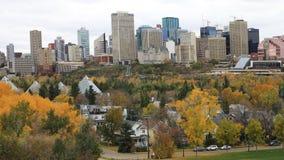 Эдмонтон, Канада городская в осени, timelapse 4K сток-видео