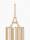 Эйфелеваа башня, тип на принципиальной схеме Recycle бумажной Стоковое Изображение RF