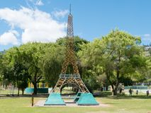 Эйфелева башня в парке Loja эквадоре Jipiro стоковая фотография