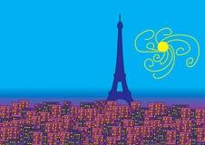 Эйфелева башня города иллюстрация вектора