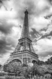 Эйфелева башня на заходе солнца в Париже, Франции HDR Романтичный ба перемещения Стоковое Фото