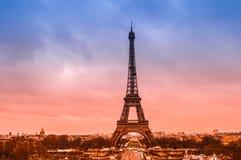 Эйфелева башня, один из интересов мира в Париже, Франция Стоковая Фотография RF