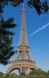 Эйфелева башня самое популярное место перемещения и глобальный культурный значок Франции и мира Стоковое Изображение RF
