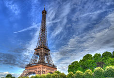 Эйфелева башня увиденная от реки Seine Стоковая Фотография