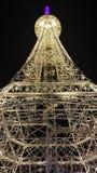 Эйфелева башня в городе Nantong Haimen (Цзянсу, Китае) Стоковое фото RF