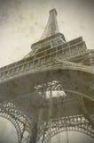 Эйфелева башня в Париже, старом стиле Стоковая Фотография