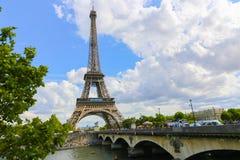 Эйфелева башня и Река Сена - Париж Стоковая Фотография RF