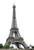 Эйфелева башня над белой предпосылкой Стоковое фото RF