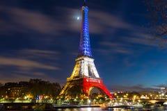 Эйфелева башня на ноче, Париж, Франция Стоковое Фото