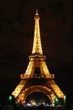 Эйфелева башня на ноче Стоковое фото RF