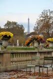 Эйфелева башня от сада Люксембурга Стоковые Изображения