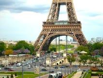 Эйфелева башня от Trocadero на весенний день Стоковая Фотография RF