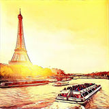 Эйфелева башня Парижа стоковая фотография
