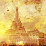 Эйфелева башня Париж, абстрактное цифровое искусство Стоковое Изображение RF