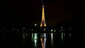 Эйфелева башня, светлая выставка представления, Париж, Франция, сток-видео