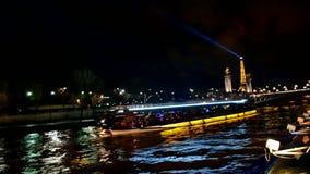 Эйфелева башня, светлая выставка представления, Париж, Франция, видеоматериал