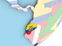 Эквадор с флагом бесплатная иллюстрация