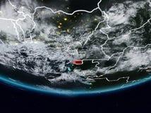 Экваториальная Гвинея во время ночи стоковое изображение rf