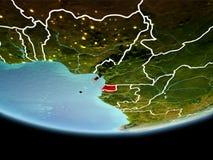 Экваториальная Гвинея в красном цвете в вечере стоковая фотография