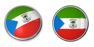 Экваториальная Гвинея кнопки знамени Стоковое Изображение