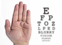 Экзамен глаза схематический стоковая фотография rf