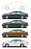 экзекьютив автомобиля иллюстрация вектора