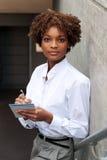 экзекьютив афроамериканца милый стоковая фотография rf