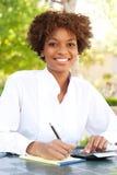 экзекьютив афроамериканца милый стоковое фото rf