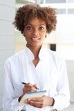 экзекьютив афроамериканца милый стоковое фото