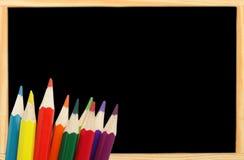экземпляр классн классного crayons космос Стоковое фото RF