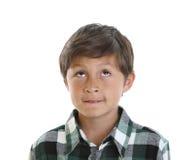 экземпляр мальчика смотрит космос к поднимающим вверх детенышам стоковое изображение rf