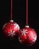 экземпляр рождества орнаментирует космос снежинки Стоковая Фотография RF