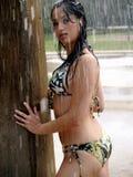 Экзотическая девушка Бикини Стоковые Фото