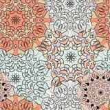 экзотическая картина безшовная Орнамент для украшения, decoupage, печати для ткани, обоев или оболочки Этническое восточное или Стоковое Изображение RF