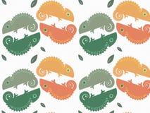 Экзотическая картина ящерицы осени с листьями Стоковые Фото
