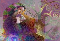 экзотическая славная девушка стоковая фотография rf