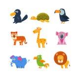 Экзотический комплект фауны игрушки Стоковое Фото