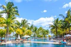 Экзотический красивый пляжный комплекс Стоковая Фотография RF