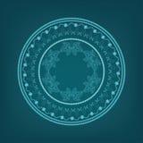 Экзотический круглый орнамент иллюстрация штока