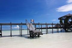 экзотический курорт kapalai острова sipadan Стоковые Фото