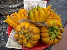 Экзотический плодоовощ и бумажные деньги в Вьетнаме стоковые изображения rf