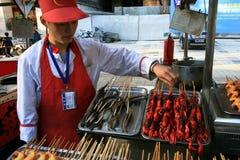 Экзотический продовольственный рынок Стоковое Изображение