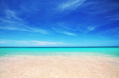 Экзотический пляж в Доминиканской Республике, cana punta Стоковое Изображение RF