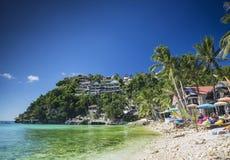 Экзотический пляж diniwid в тропическом рае boracay Филиппинах Стоковые Изображения
