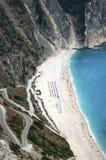 Экзотический пляж Myrtos Kefalonia Стоковое Изображение