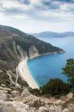 Экзотический пляж Myrtos Kefalonia Стоковое Изображение RF