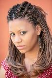 экзотический стиль причёсок девушки Стоковая Фотография RF