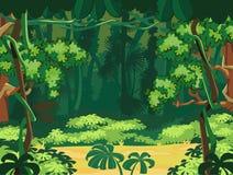Экзотический тропический лес иллюстрация вектора