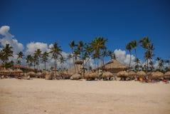 Экзотический carribean пляж, Punta Cana Стоковое Фото